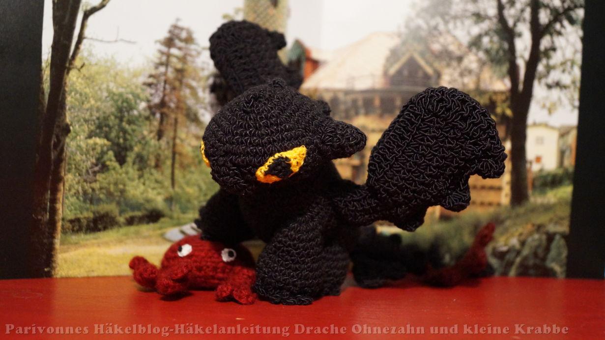 Drache Ohnezahn (Drachen zähmen leicht gemacht) Häkelanleitung Teil ...