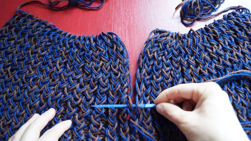 Selbstauflösende Fäden Knoten Abschneiden