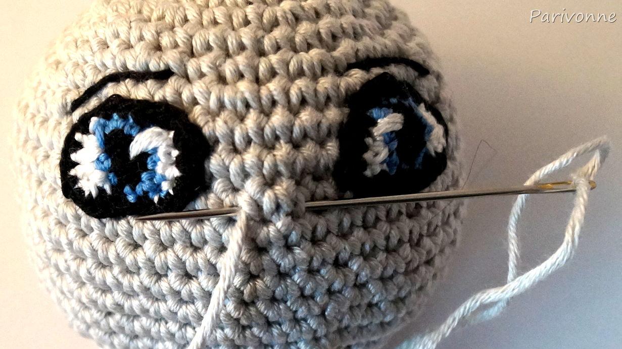 Augen Häkeln Smokey Eyes Parivonnes Häkelblog