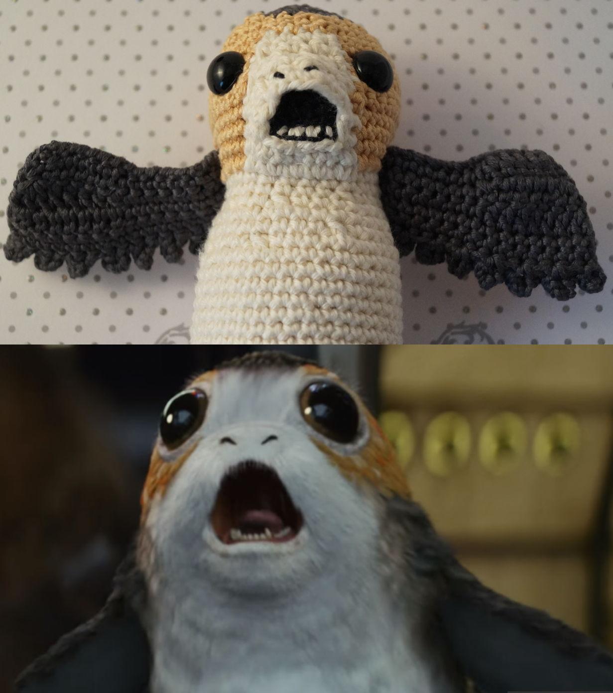 Porg Häkeln Star Wars Die Letzten Jedi Parivonnes Häkelblog
