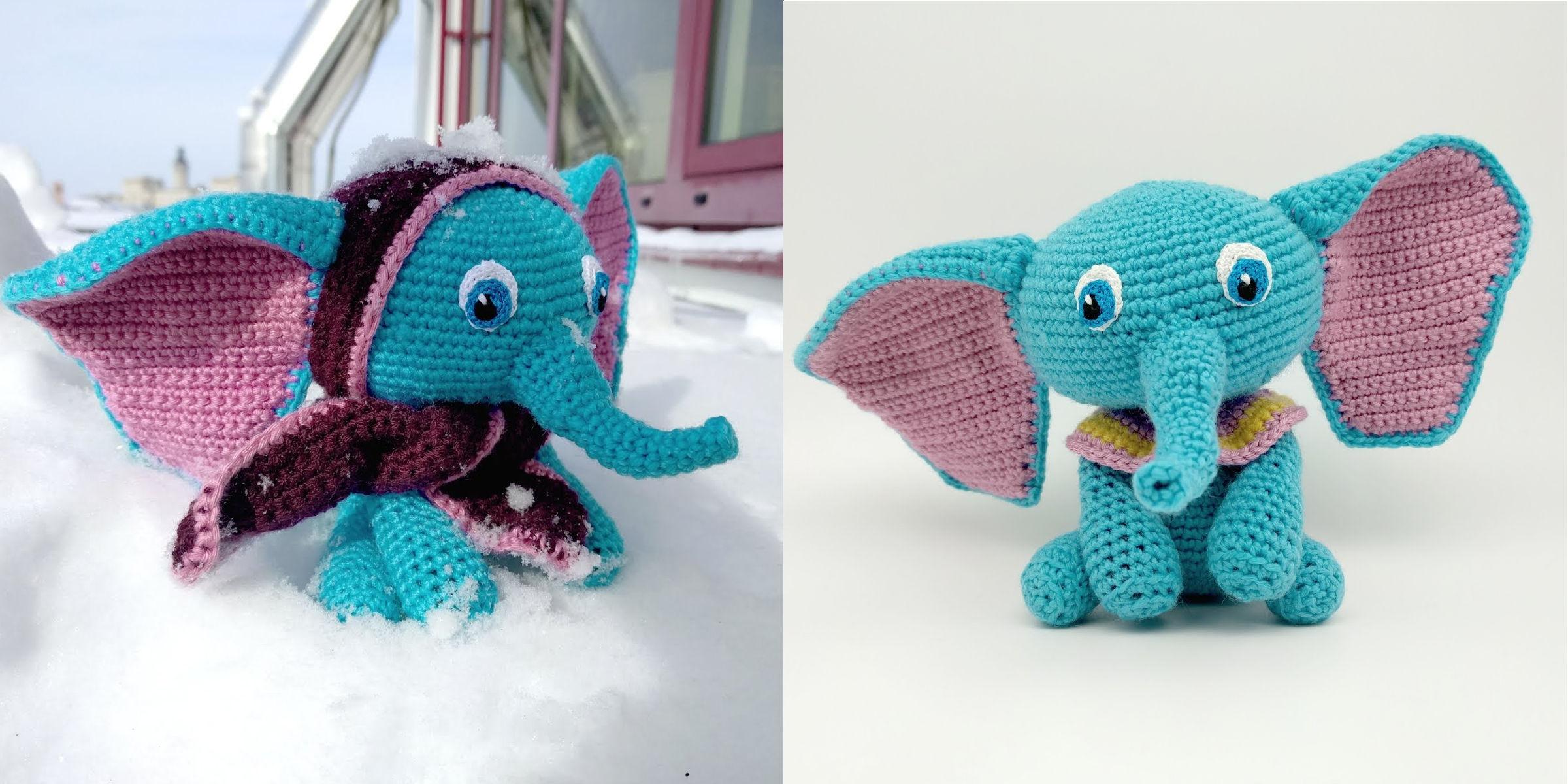 Ebby Der Blaue Elefant Parivonnes Häkelblog